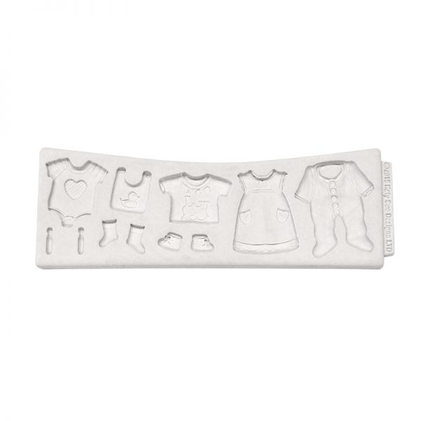 Baby Clothes Washing Line Katy Sue Designs Silicone Mould.