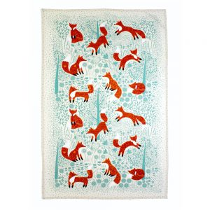 Foraging Fox Cotton Tea Towel