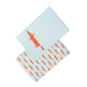 Scion Living Mr Fox Set of 2 Tea Towels - Blue