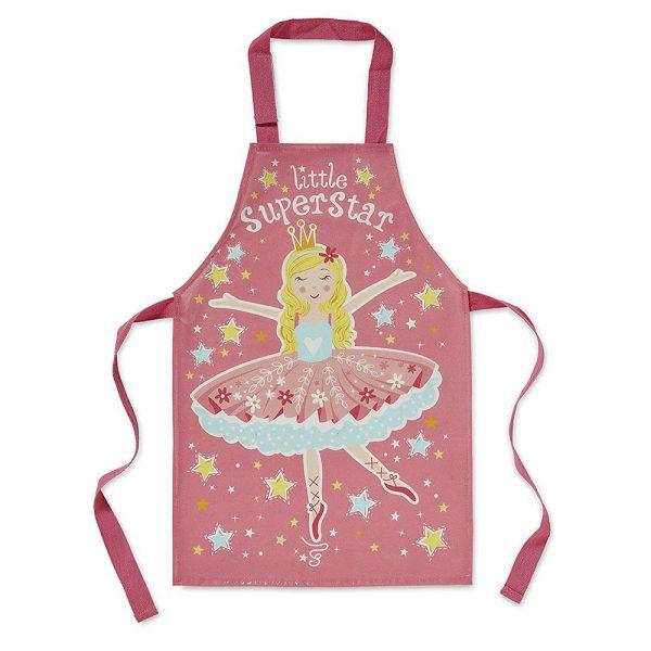 Childrens PVC Apron Little Superstar Fairy Princess by Cooksmart-0