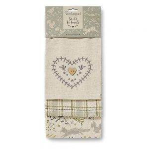 Tea Towels Woodland Design Set of 3 by Cooksmart -0