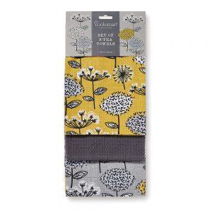 Tea Towels Retro Meadow Design, pack of 3 by Cooksmart -0