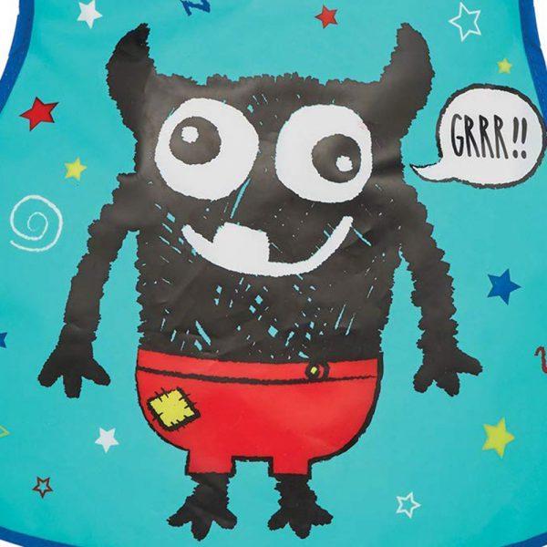 Childrens Tabard Apron Little Monster in Soft PEVA Vinyl from Cooksmart -82163