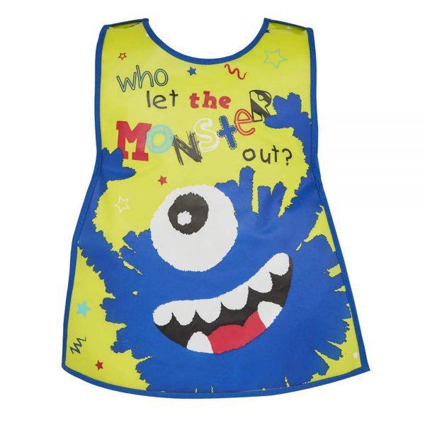 Childrens Tabard Apron Little Monster in Soft PEVA Vinyl from Cooksmart -82157