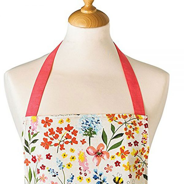 Adults Apron Cotton BEE HAPPY Design 100% Cotton from Cooksmart -82142