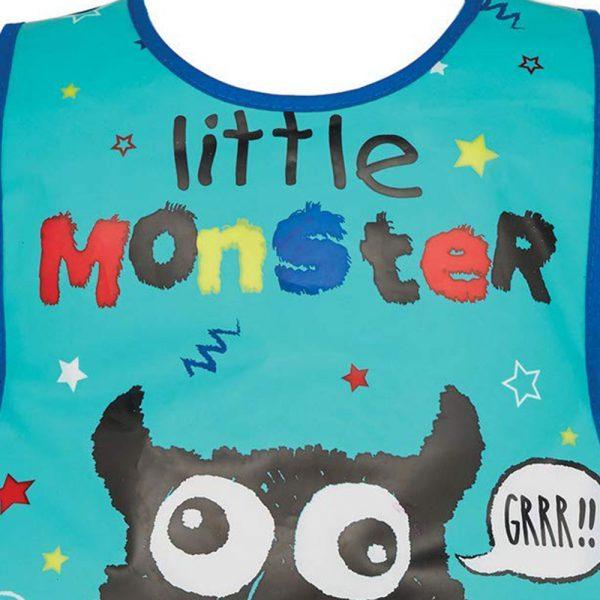 Childrens Tabard Apron Little Monster in Soft PEVA Vinyl from Cooksmart -82162