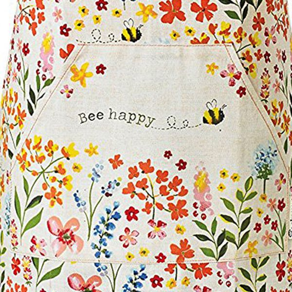 Adults Apron Cotton BEE HAPPY Design 100% Cotton from Cooksmart -82140