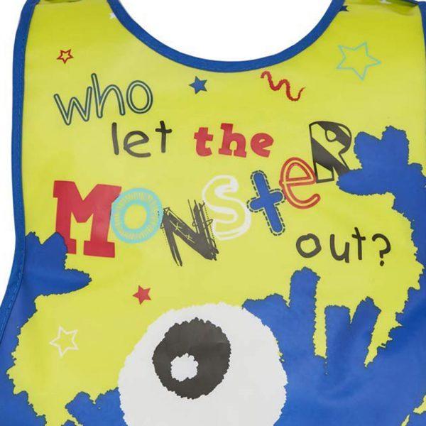 Childrens Tabard Apron Little Monster in Soft PEVA Vinyl from Cooksmart -82160