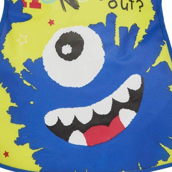 Childrens Tabard Apron Little Monster in Soft PEVA Vinyl from Cooksmart -82161