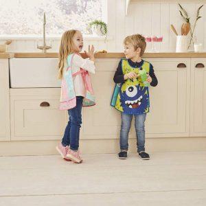 Childrens Apron Tabard Unicorn in Soft PEVA vinyl from Cooksmart -0