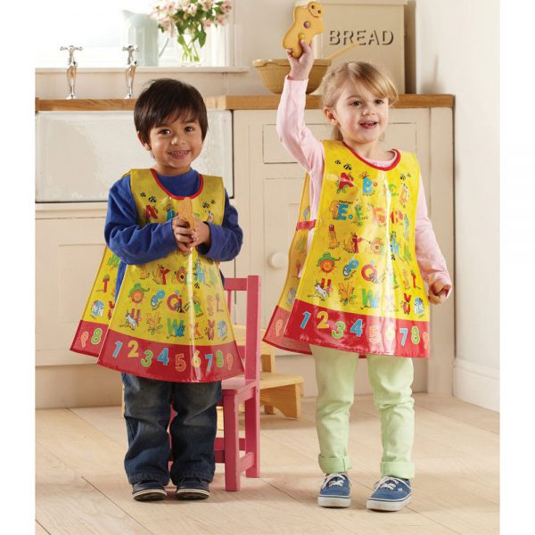 Childrens Apron Tabard ABC Style in PVC from Cooksmart -82173