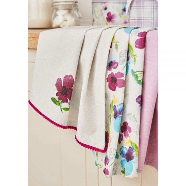Tea Towels 3 Pack Chatsworth Floral by Cooksmart-4185