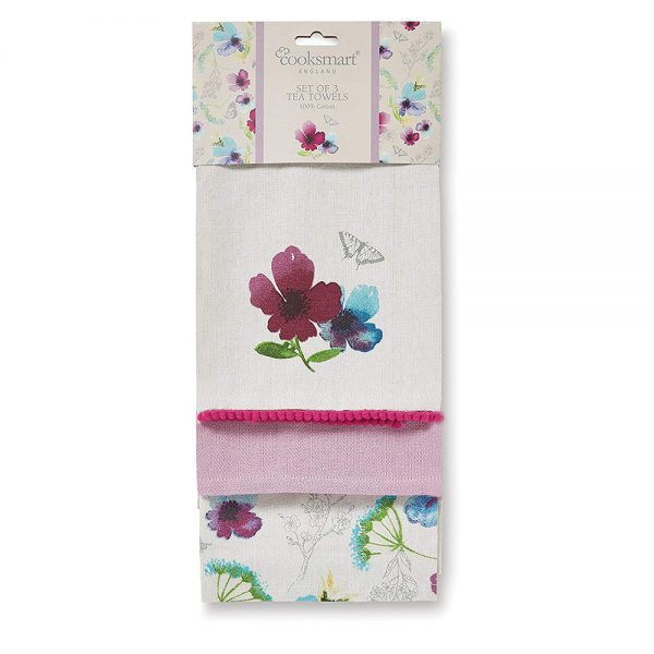 Tea Towels 3 Pack Chatsworth Floral by Cooksmart-0