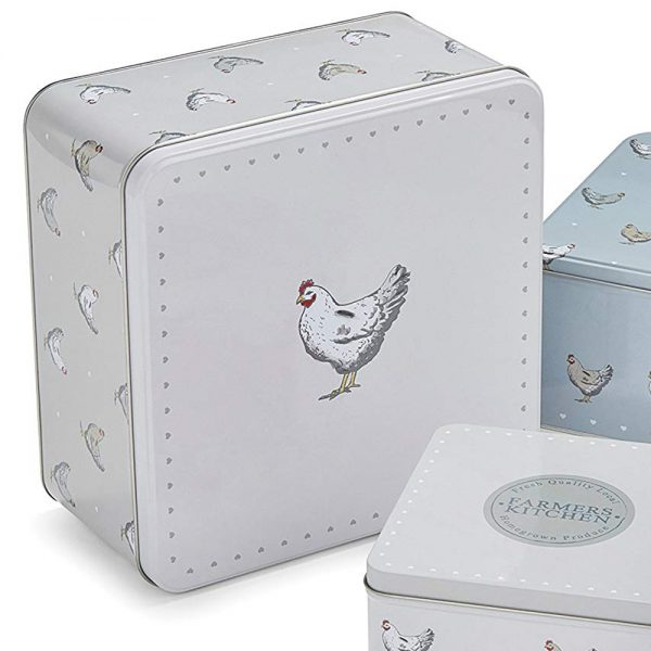 Square Cake Tins Set of 3 Farmers Kitchen Chickens Design by Cooksmart-4178