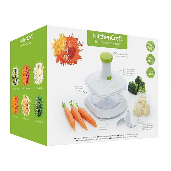 KitchenCraft Healthy Eating 'Rice 'n' Slice' Food Processor-79387