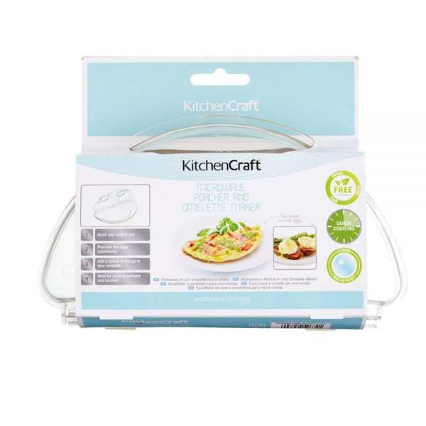 Microwave Egg Poacher and Omelette Maker Kitchencraft-79589