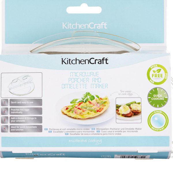 Microwave Egg Poacher and Omelette Maker Kitchencraft-79590
