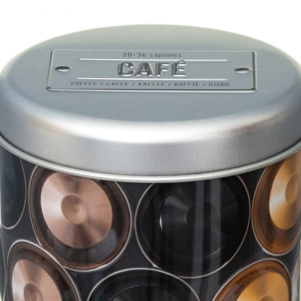 Embossed Coffee Capsule/Pod Canister from the Larder Collection by 5five Simply Smart-82439