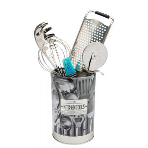 Embossed Utensil and Kitchen Tools Holder from the Larder Collection by 5five Simply Smart-0