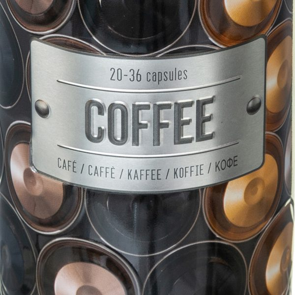 Embossed Coffee Capsule/Pod Canister from the Larder Collection by 5five Simply Smart-82438