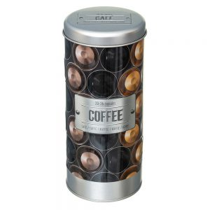 Embossed Coffee Capsule/Pod Canister from the Larder Collection by 5five Simply Smart-0