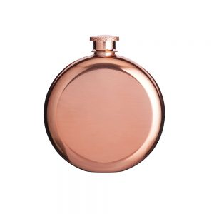 Hip Flask Stainless Steel Copper Finish 140ml BarCraft-0