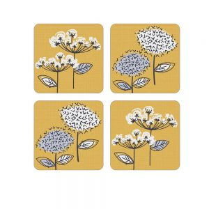 Pack of 4 Coasters Retro Meadow Design by Cooksmart-0