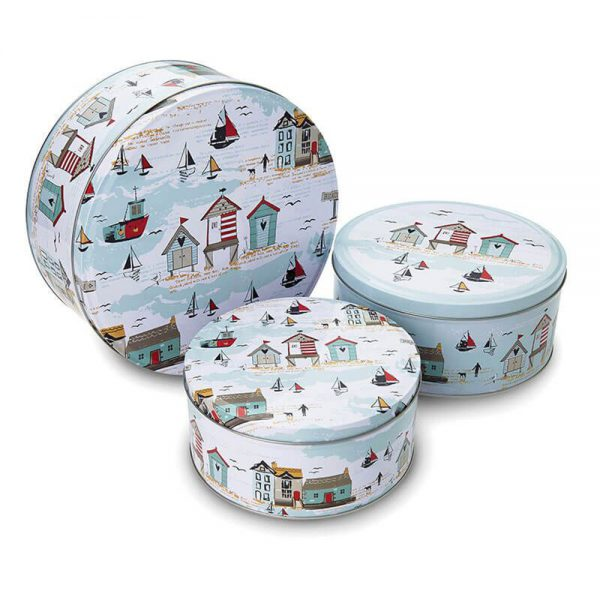 Set of 3 Round Cake Tins Beside the Seaside by Cooksmart-0