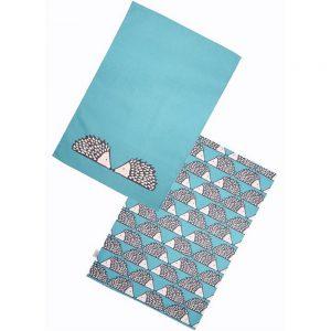 Scion Living Spike Set of 2 Tea Towels Teal-0