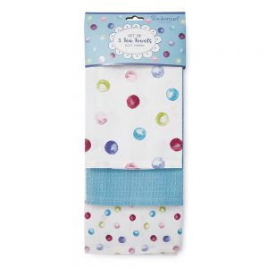 Tea Towels 3 Pack Spotty Dotty from Cooksmart-0