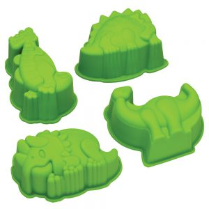 Dinosaur Shaped Silicone Cake / Jelly Moulds Let's Make by Kitchencraft-79999