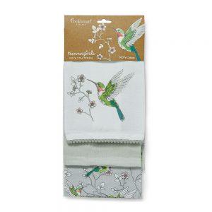 Pack of 3 Tea Towels HUMMINGBIRDS from Cooksmart -0