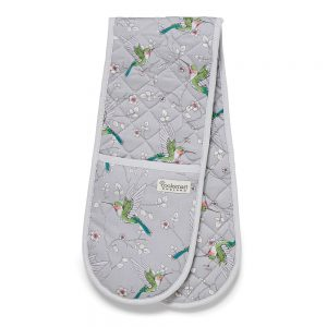 Double Oven Glove HUMMINGBIRDS Design by Cooksmart 100% Cotton Outer-0