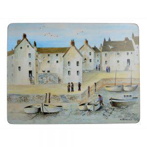 Pack Of 6 Premium Placemats Cornish Harbour Creative Tops-0