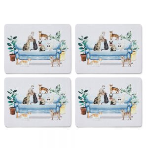 Set of 4 Placemats Curious Cats by Cooksmart-0
