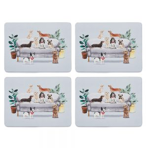 Set of 4 Placemats Curious Dogs by Cooksmart-0