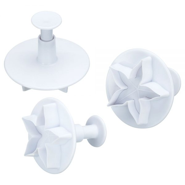 Set of 3 Lotus Blossom Fondant Plunger Cutters Sweetly Does It-0