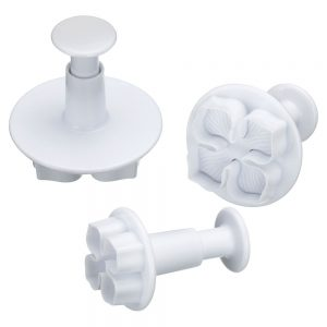 Set of 3 Pansy Fondant Plunger Cutters Sweetly Does It -0