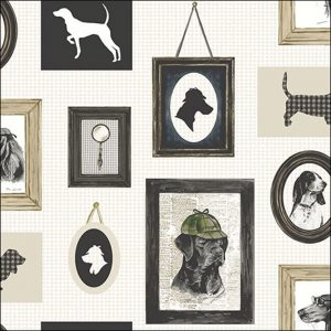 Luxury Paper Napkins Detective Dog 33x33cm by Ambiente-0