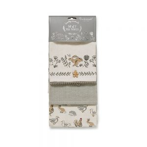 Set of 3 Tea Towels Country Animals by Cooksmart-0