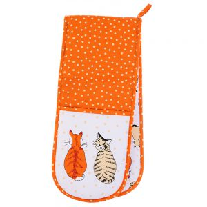 Double Oven Glove Cats in Waiting Ulster Weavers-0