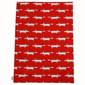 Scion Living Mr Fox Set of 2 Tea Towels - Red-0