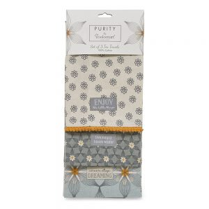 Pack of 3 Tea Towels Purity from Cooksmart -0