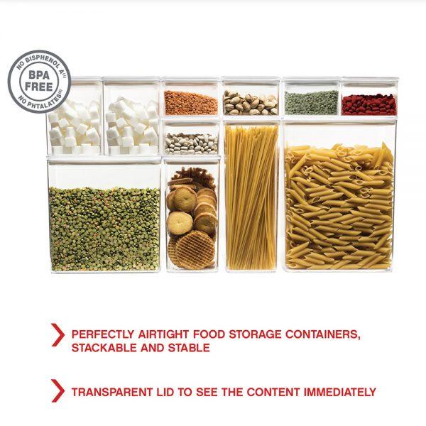 Eske 1L Airtight Food Storage Container Box 1000ml Set of 2-82756