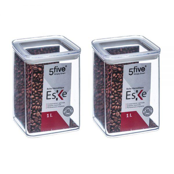 Eske 1L Airtight Food Storage Container Box 1000ml Set of 2-0