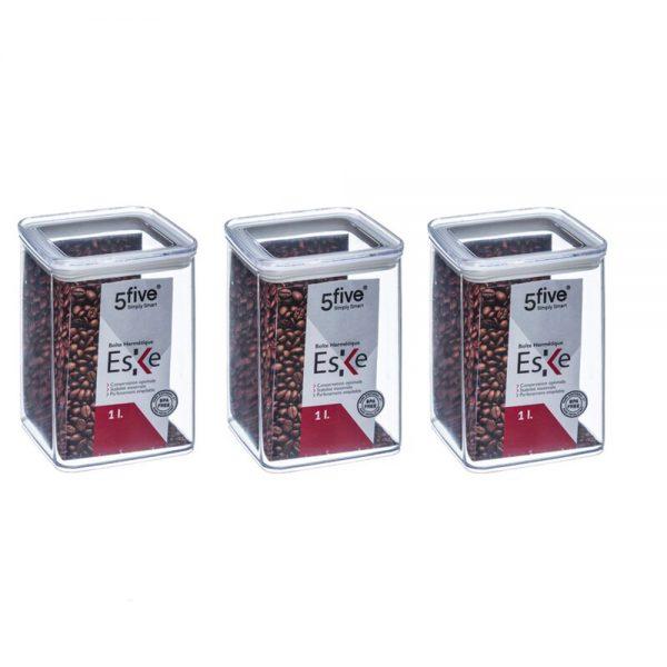 Eske 1L Airtight Food Storage Container Box 1000ml Set of 3-0