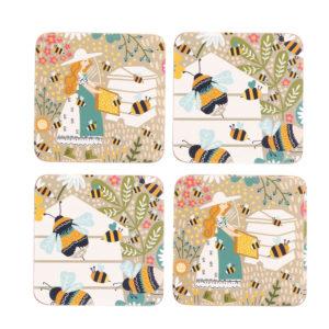 Beekeeper Coasters Set of 4